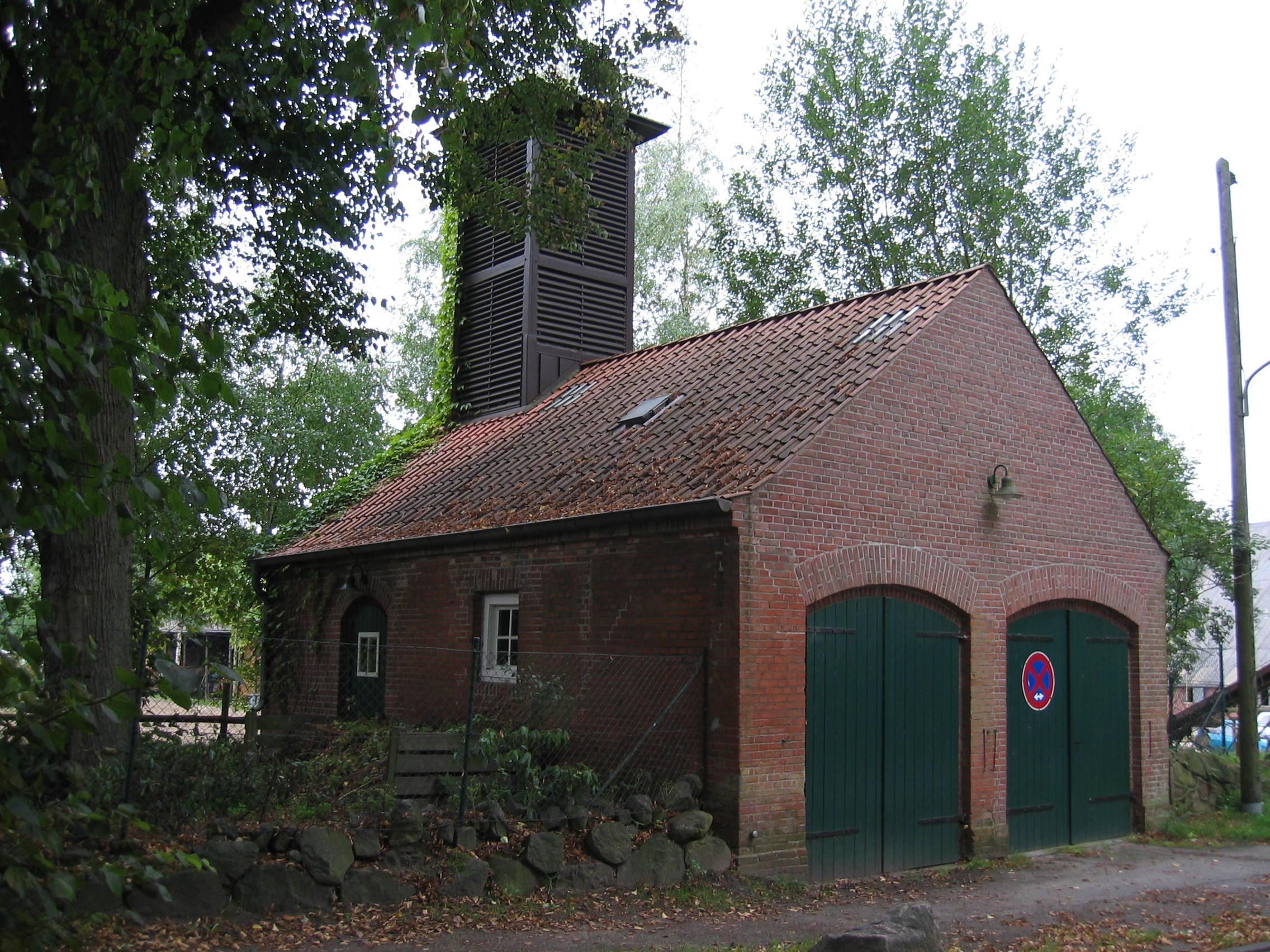 Das alte Feuerwehrhaus am Bergstedter Markt