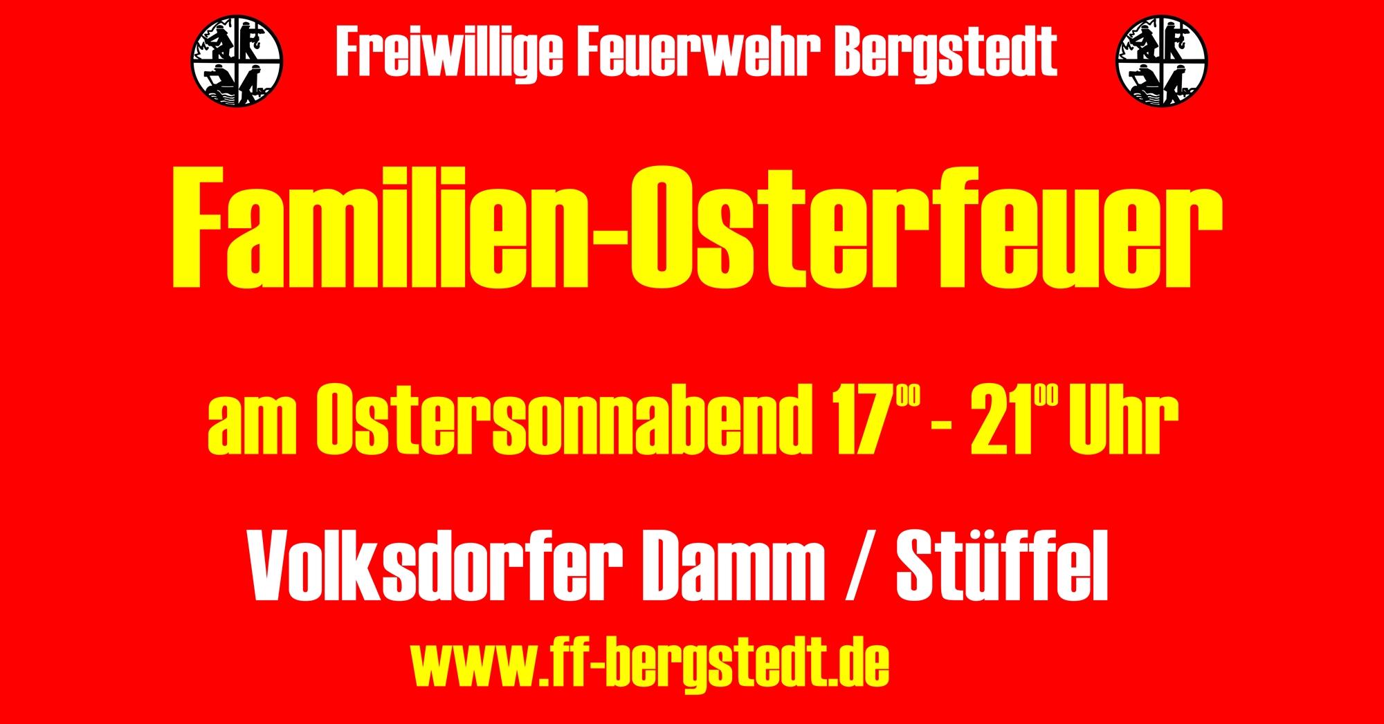 Osterfeuer Bauzaun 2017